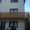 Balkon-Edelstahl-Holz