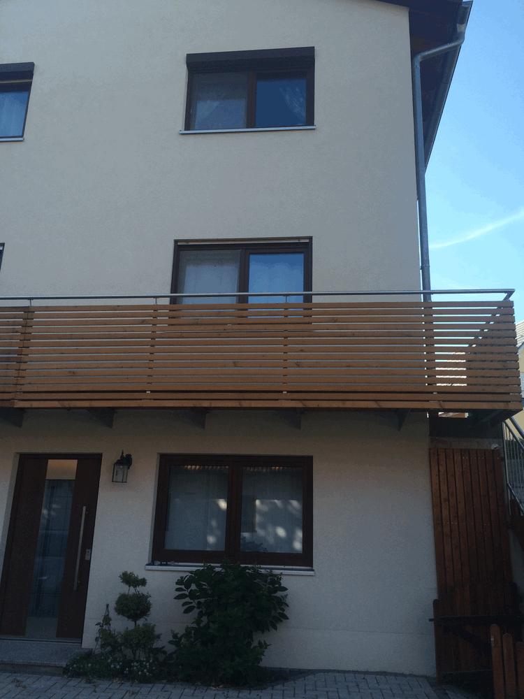 Balkon Edelstahl Holz