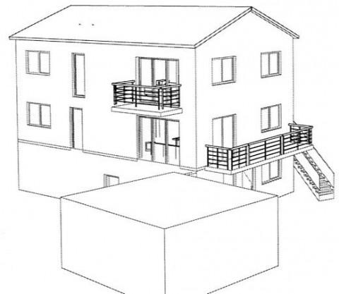 Haus 3D Ansicht