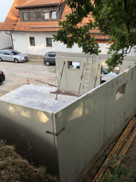 Betongarage ausführt mit Beton-Doppelwand