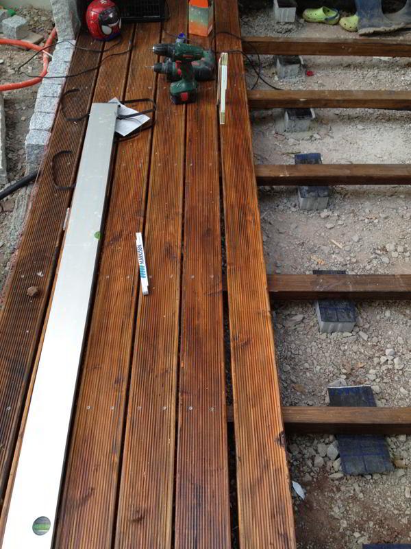Holzterrasse - Dielenbretter