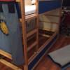 Das Hochbett mit dem neuen Unterbett