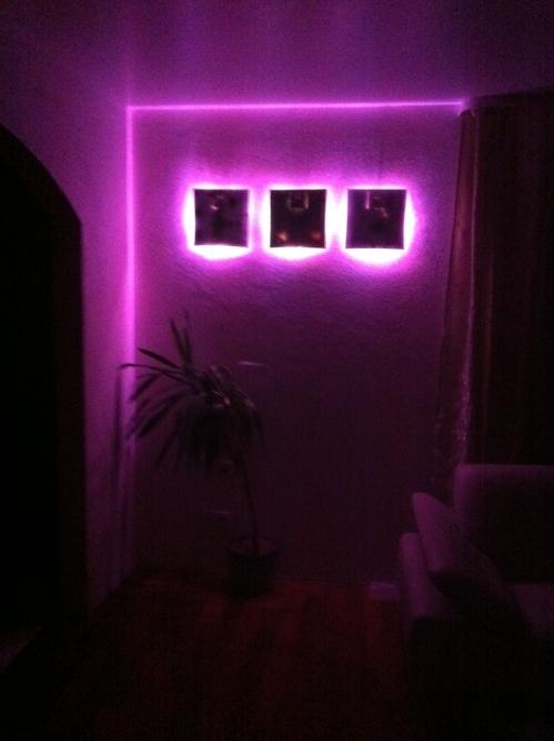 LED Leuchten Lila