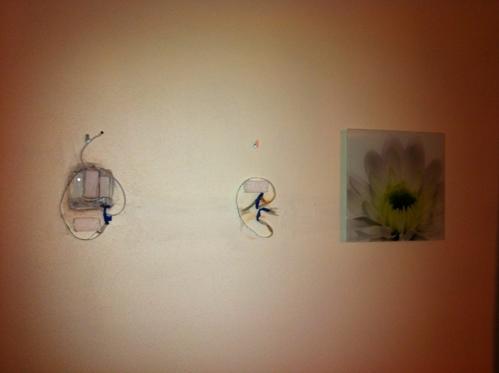 LED Kontroller und der Netzteil in der Wand