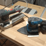 Exzenterschleifer von Bosch und Faust-Schwingschleifer von Makita