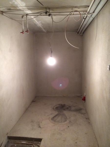 Der Sauna-Raum im Keller