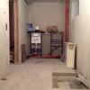 Der nicht ausgebauter Duschraum für die Sauna im Keller