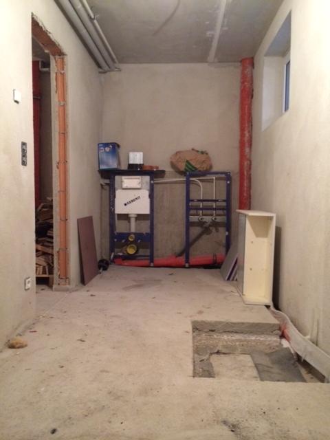 duschraum f r sauna im keller hausbau ein baublog. Black Bedroom Furniture Sets. Home Design Ideas