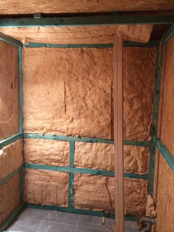 Dämmung der Saunakabine