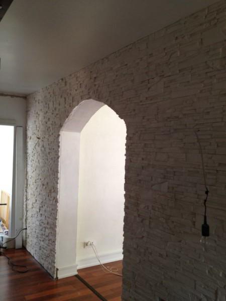Die Wand in Steinlook