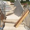 Granitpodest für die Treppe