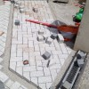 Pflasterkante aus Granitsteinen