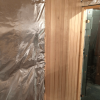 Sauna: Abachi Profilholz