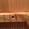 Saunabankträger befestigen