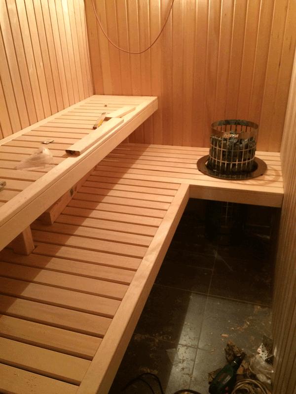 Sauna Teil 5 Saunabanke Bauen Hausbau Ein Baublog