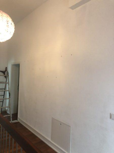 Die Wand ohne Regale